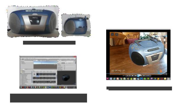 contenu 3D de réalité augmentée