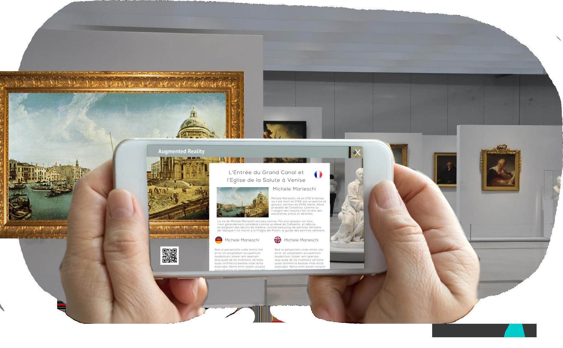 Réalité augmentée merchandising : musée et exposition