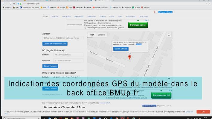 Réalité augmentée par GPS